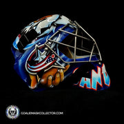 Curtis Sanford Goalie Mask Unsigned Vancouver