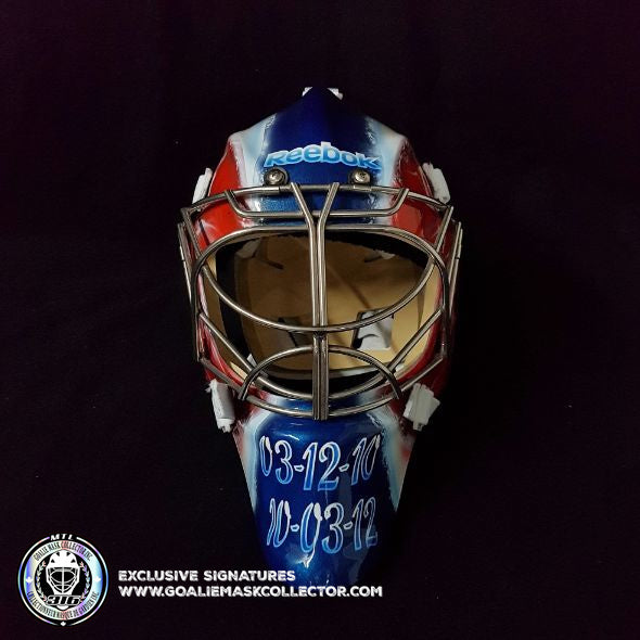 CUSTOM PAINTED GOALIE MASK:  FAMILY PORTRAITS ON STANDARD ICE READY