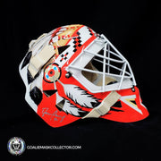 Darren Pang Signed Goalie Mask Autographed Chicago Signature Edition