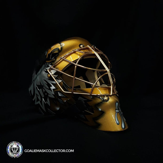 "Ed Belfour ""BLACK & GOLD Edition"" Signed Goalie Mask Golden Eagle Autographed Signature Edition LE Release of 5"