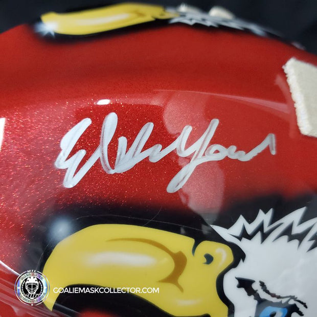 Ed Belfour Signed Goalie Mask 2002 Olympics Team Canada Autographed Signature Edition