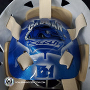 ED BELFOUR SIGNED GOALIE MASK TORONTO BLUE SILVER EAGLE V1 AUTOGRAPHED SIGNATURE EDITION