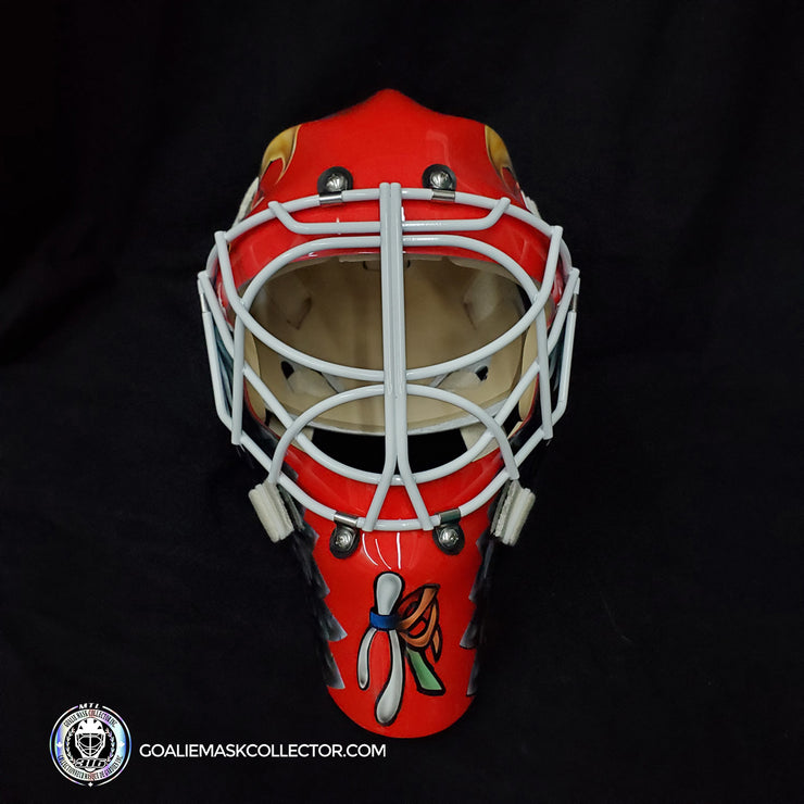 Ed Belfour Signed Goalie Mask Chicago Complex Autographed Signature Edition
