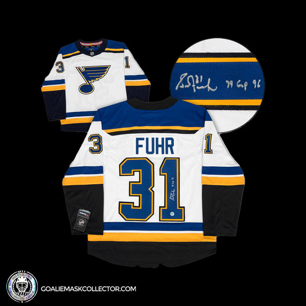 Grant Fuhr St. Louis Blues 79 Games in 96 Fanatics Jersey Autographed