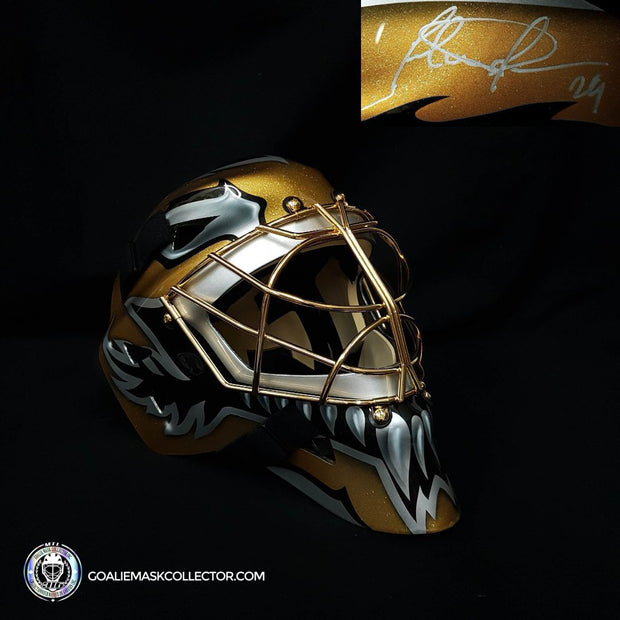"Felix Potvin ""BLACK & GOLD Edition"" Signed Goalie Mask Toronto Autographed Signature Edition LE Release of 5"