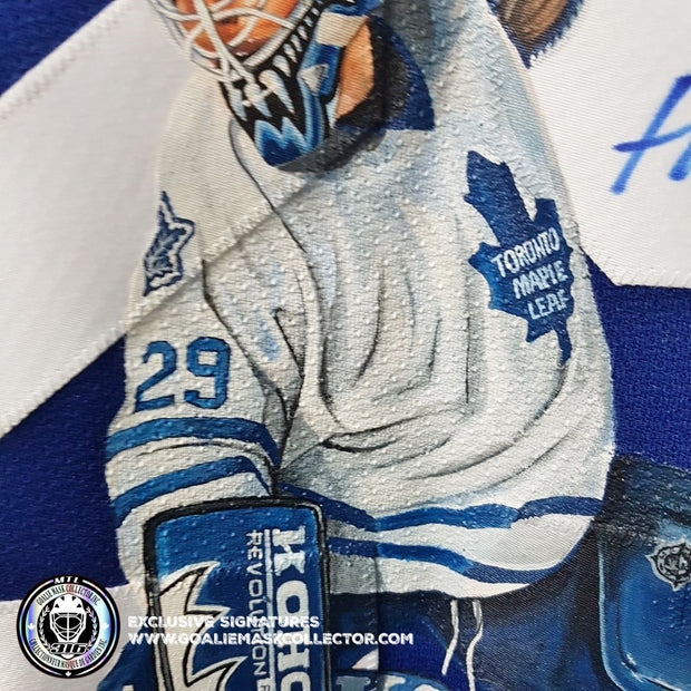 FELIX POTVIN ART EDITION SIGNED JERSEY HAND-PAINTED TORONTO MAPLE LEAFS AUTOGRAPHED