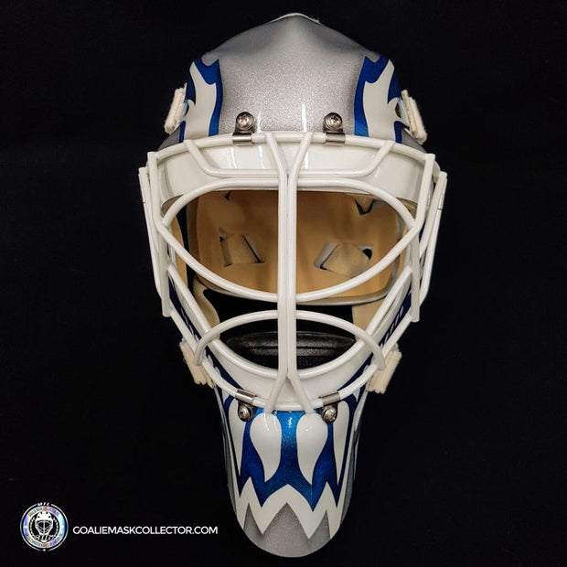 Felix Potvin Signed Goalie Mask Autographed Reverse Retro Edition Silver Leafs Classic Signature Edition
