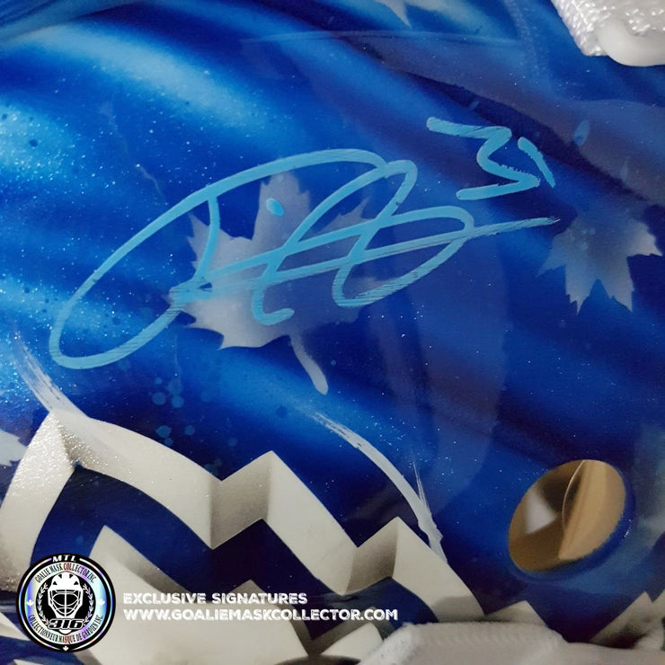 FREDERIK ANDERSEN SIGNED GOALIE MASK TORONTO AUTOGRAPHED AS LEGACY EDITION