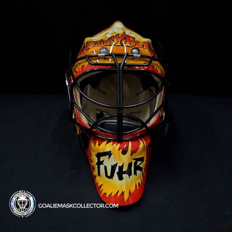 GRANT FUHR SIGNED GOALIE MASK AUTOGRAPHED CALGARY HELMET SIGNATURE EDITION