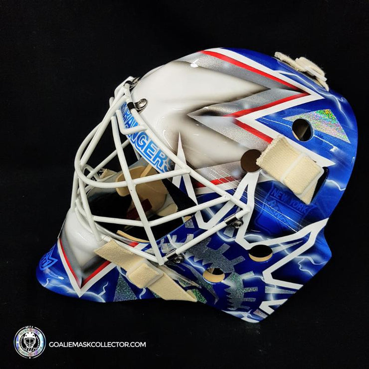 HENRIK LUNDQVIST GOALIE MASK NEW YORK SILVER EDITION UN-SIGNED