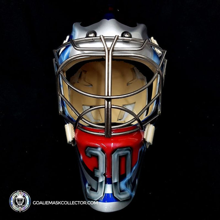 Henrik Lundqvist Goalie Mask Un-Signed 2018 Winter Classic Brooklyn New York
