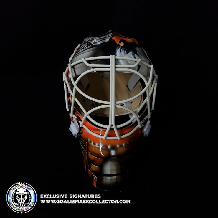 JEAN-SEBASTIEN GIGUERE SIGNED GOALIE MASK AUTOGRAPHED ANAHEIM 2007 STANLEY CUP YEAR VINYL EDITION