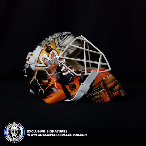 JEAN-SEBASTIEN GIGUERE SIGNED GOALIE MASK AUTOGRAPHED ANAHEIM 2007 STANLEY CUP YEAR SIGNATURE EDITION