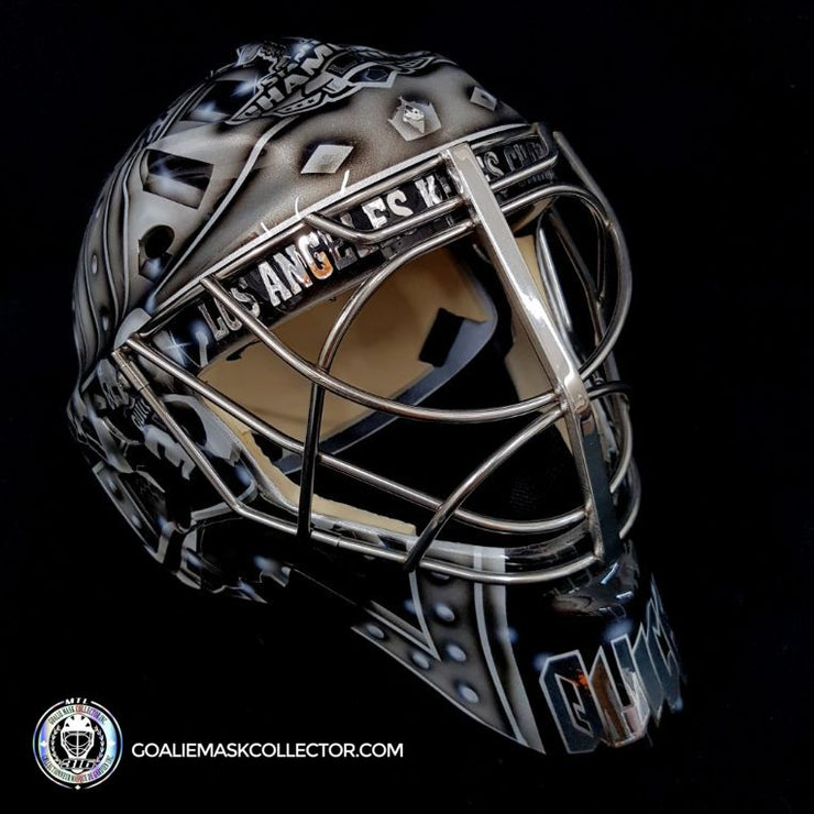 Jonathan Quick Unsigned Goalie Mask Los Angeles Legacy Edition Painted on Sportmask Pro 3i