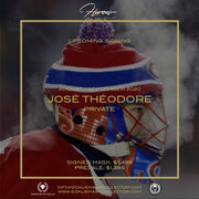 PRE-SALE: JOSE THEODORE SIGNED GOALIE MASK MONTREAL COLORADO WASHINGTON TRIBUTE SIGNATURE EDITION AUTOGRAPHED