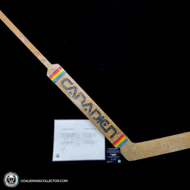 Ken Dryden Sherwood Game Used Stick Autographed Signed Montreal Canadiens