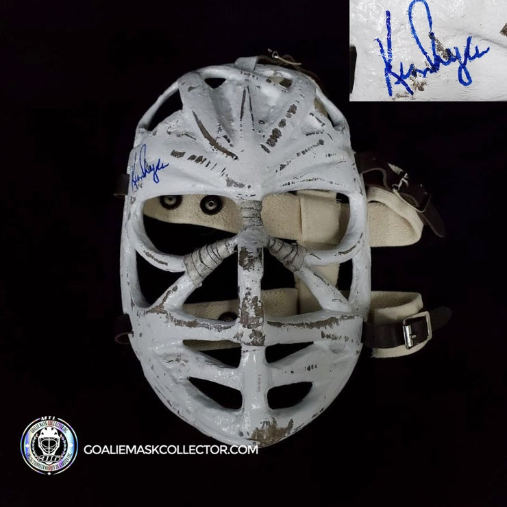 KEN DRYDEN SIGNED GOALIE MASK PRETZEL MONTREAL AUTOGRAPHED HIGH GRADE TRIBUTE MASK