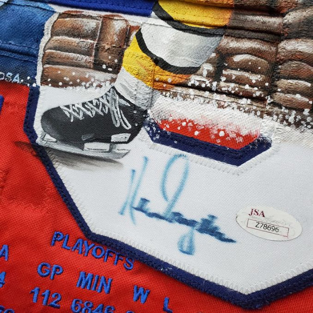 Demo: Ken Dryden Signed Jersey ART EDITION vs Bobby Orr Hand painted