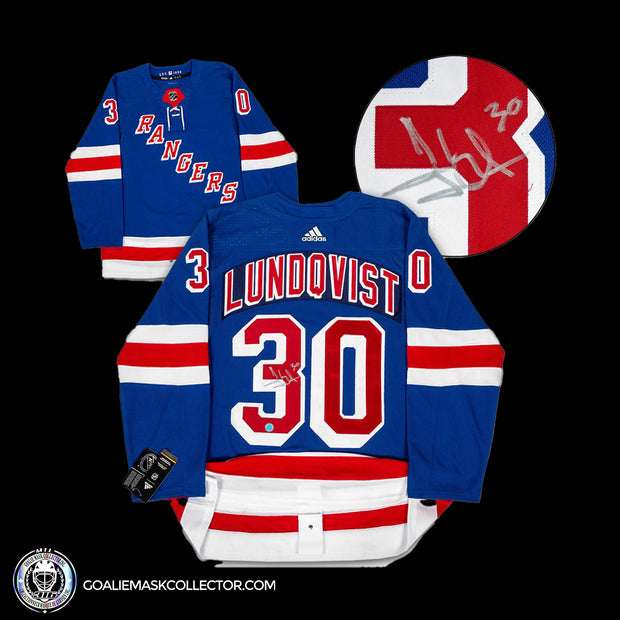Henrik Lundqvist New York Rangers Autographed Adidas Authentic Hockey Jersey