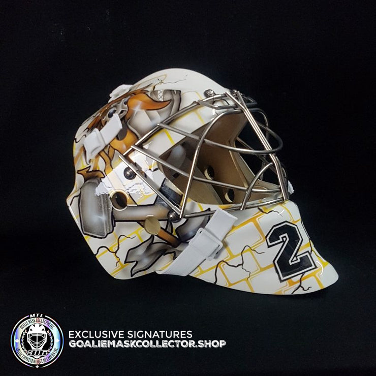 MARC ANDRE FLEURY SIGNED AUTOGRAPHED GOALIE MASK PITTSBURGH 2009 CUP INSCRIBED AS Edition