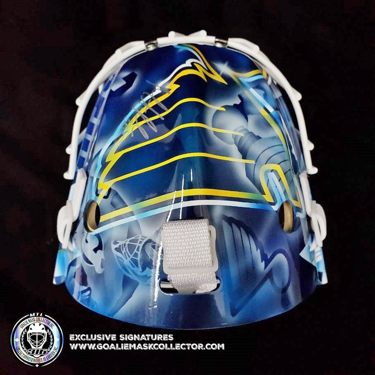 MARTIN BRODEUR SIGNED GOALIE MASK AUTOGRAPHED ST. LOUIS LEGACY SIGNATURE EDITION