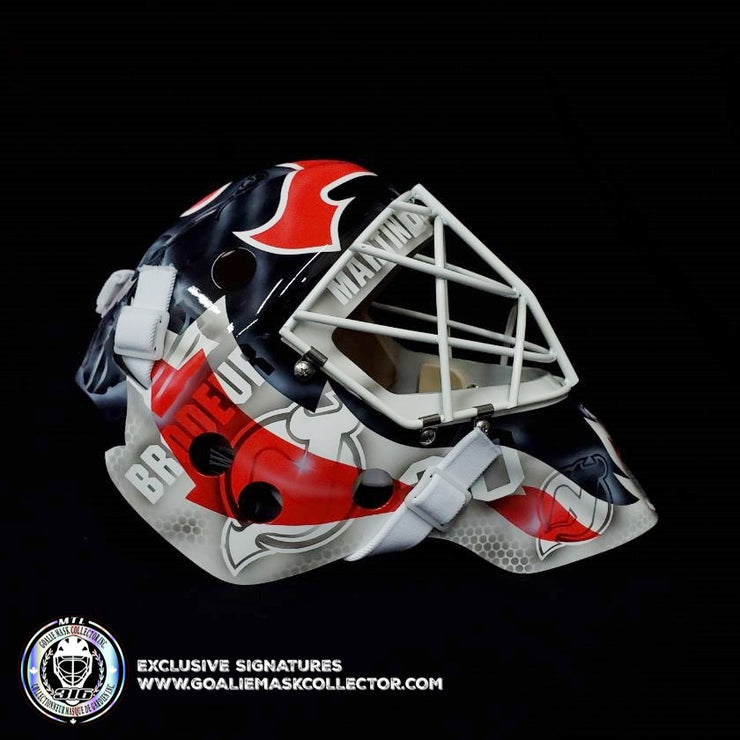 MARTIN BRODEUR SIGNED GOALIE MASK AUTOGRAPHED NEW JERSEY LEGACY EDITION