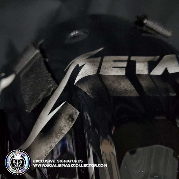 METALLICA GOALIE MASK  BLACK ALBUM TRIBUTE UN-SIGNED HELMET