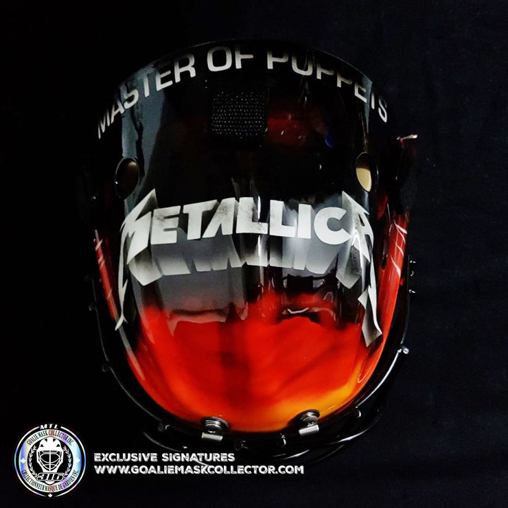 METALLICA GOALIE MASK  MASTER OF PUPPETS ALBUM TRIBUTE UN-SIGNED