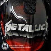 METALLICA GOALIE MASK  MASTER OF PUPPETS ALBUM TRIBUTE UN-SIGNED HELMET