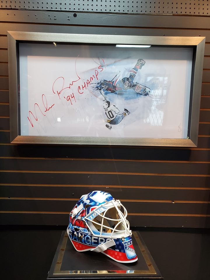 "MIKE RICHTER 3D FRAME ""THE SAVE"" SIGNED AUTOGRAPHED NEW YORK"