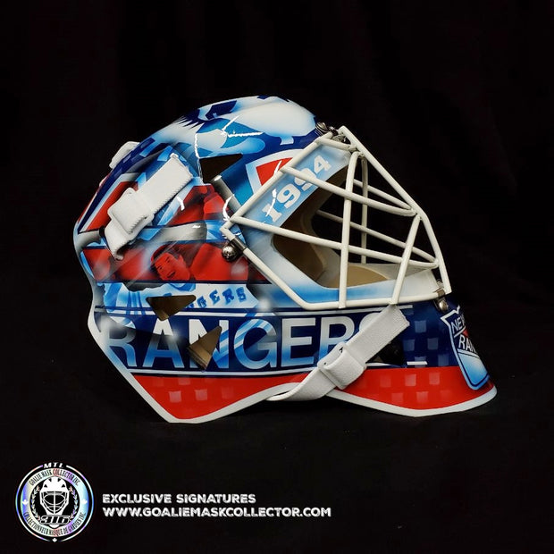 MIKE RICHTER SIGNED GOALIE MASK AUTOGRAPHED NEW YORK LEGACY EDITION 25TH CUP WIN ANNIVERSARY