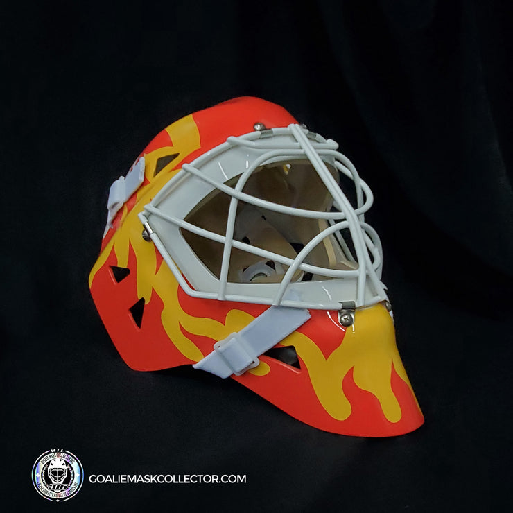 Mike Vernon Signed Goalie Mask Autographed Calgary Signature Edition
