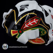 MURRAY BANNERMAN UN-SIGNED GOALIE MASK CHICAGO PREMIUM VINTAGE