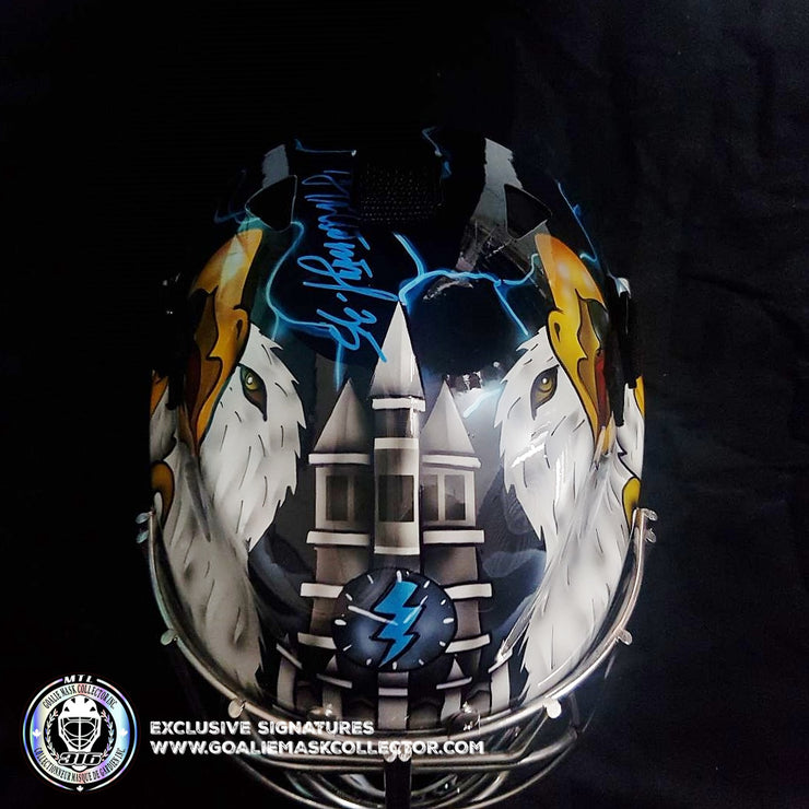 NIKOLAI KHABIBULIN SIGNED GOALIE MASK AUTOGRAPHED TAMPA BAY 2004 STANLEY CUP AS EDITION