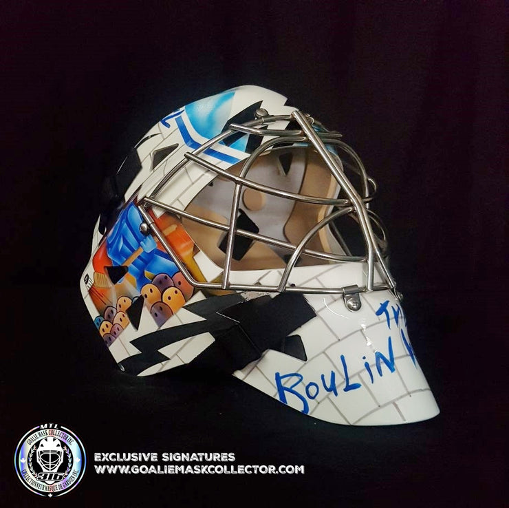 NIKOLAI KHABIBULIN SIGNED GOALIE MASK AUTOGRAPHED TAMPA BAY WHITE WALL VINYL EDITION