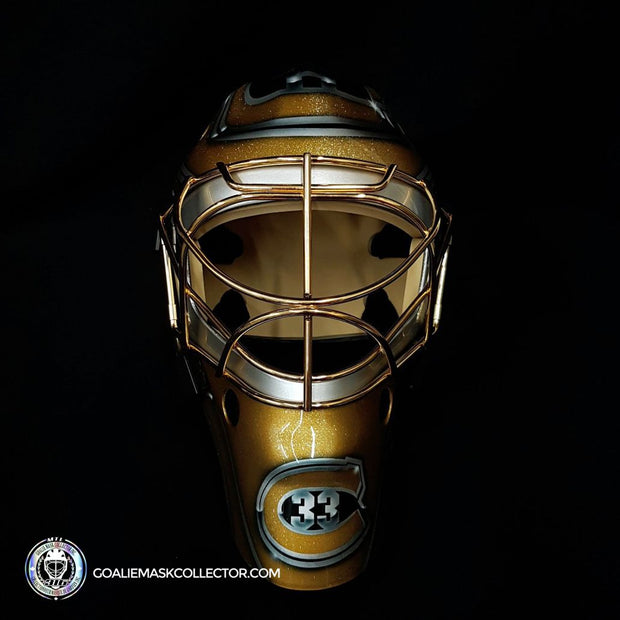 "Patrick Roy ""BLACK & GOLD Edition"" Unsigned Goalie Mask Montreal Autographed LE Release of 5"