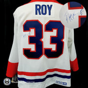 Patrick Roy Signed Jersey Canadiens White 1993 Stanley Cup patch CCM