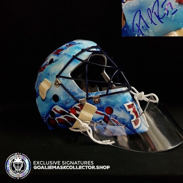 PATRICK ROY SIGNED GOALIE MASK AUTOGRAPHED COLORADO GEN 2 AS EDITION