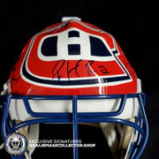 PATRICK ROY AUTOGRAPHED GOALIE MASK 1993 STANLEY CUP MONTREAL CANADIENS TEAM SIGNED- COA