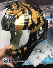 "Pre-Sale: CURTIS CUJO JOSEPH ""BLACK & GOLD EDITION"" SIGNED GOALIE MASK TORONTO AUTOGRAPHED SIGNATURE EDITION"