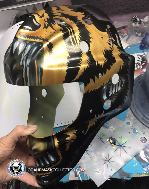 "Curtis Cujo Joseph ""BLACK & GOLD Edition"" Signed Goalie Mask Autographed Signature Edition LE Release of 5"