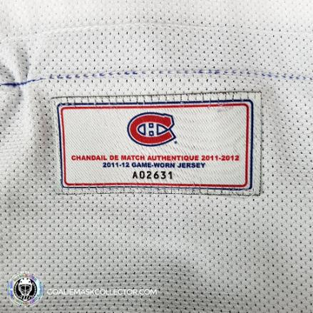 Carey Price Game Worn Jersey 2011-12 Montreal Canadiens