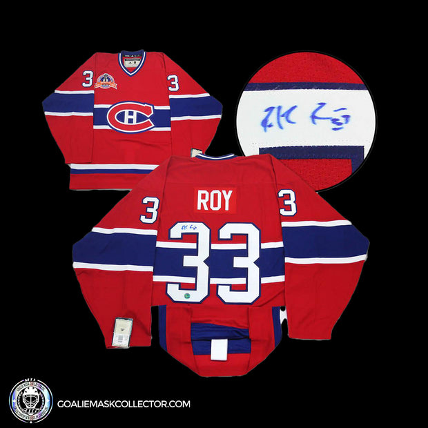 Patrick Roy Montreal Canadiens Signed 1993 Stanley Cup Authentic Vintage Jersey