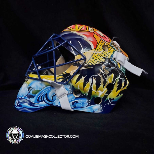 ROBERTO LUONGO GOALIE MASK FLORIDA UN-SIGNED