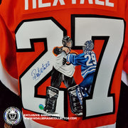 HEXTALL & POTVIN FIGHT ART EDITION SIGNED JERSEY HAND-PAINTED PHILADELPHIA FLYERS
