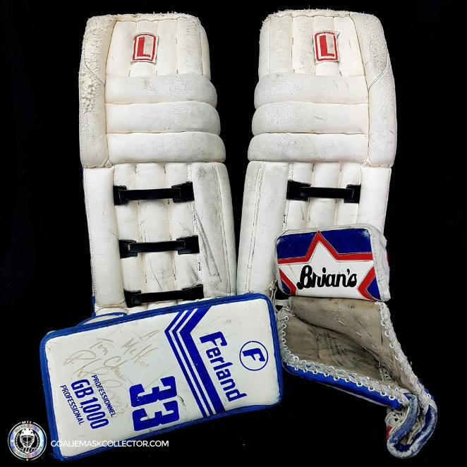 Patrick Roy Game Used Pads Set Lefebvre Ferland Brian's 1990-91 Complete Set Autographed LOA Ultra Rare