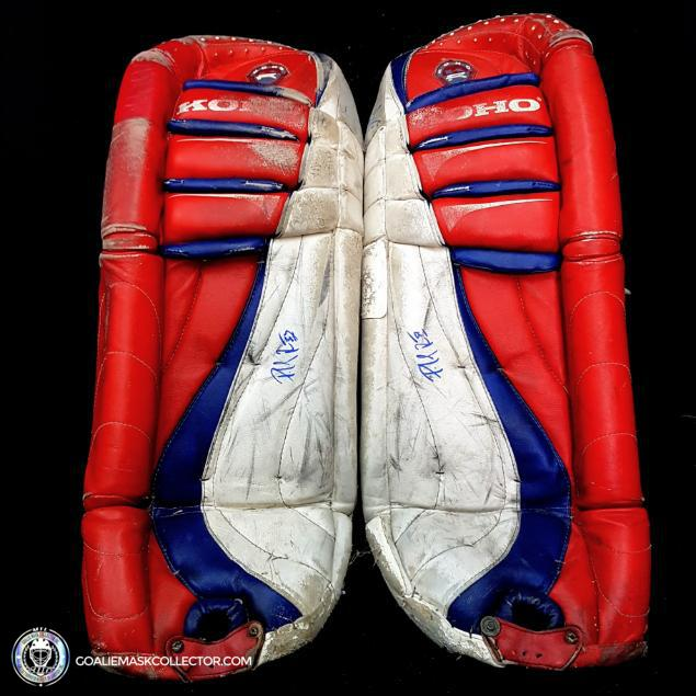Patrick Roy Replica 1996 Koho Pads Signed and Inscribed Montreal Canadiens