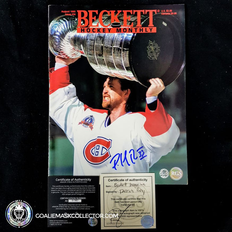 Patrick Roy Signed Beckett August 93 Magazine
