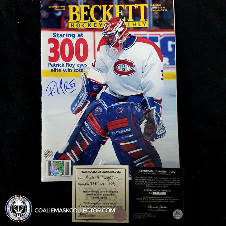 Patrick Roy Signed Beckett December 95 Magazine