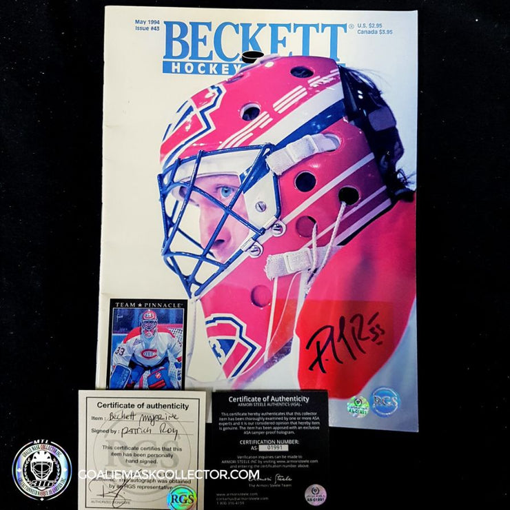 Patrick Roy Signed Beckett May 94 Magazine #3